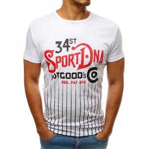 Trendové pánske tričko s farebnou potlačou
