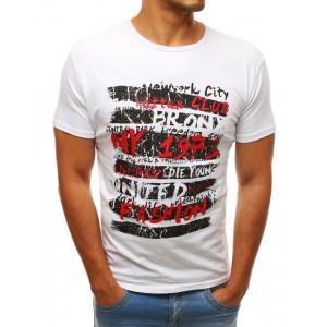 Moderné pánske letné tričko bielej farby