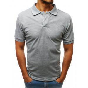 Pánske tričko s golierom v sivej farbe