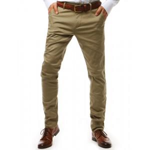 Štýlové pánske béžové chinos nohavice