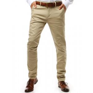 Spoločenské svetlo béžové pánske chinos nohavice