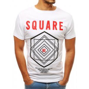 Pánske biele tričko s motívom SQUARE