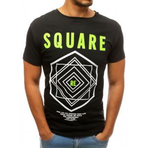Pánske tričko s motívom SQUARE čiernej farby