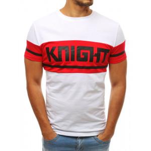 Bavlnené pánske letné tričko s nápisom KNIGHT