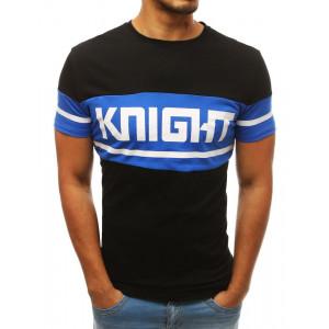 Čierne bavlnené tričko na leto s potlačou