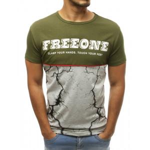 Zelené pánske originálne tričko na leto