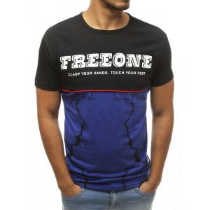 Moderné dvojfarebné tričko s bielym nápisom