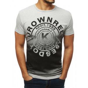 Letné pánske štýlové tričko sivej farby