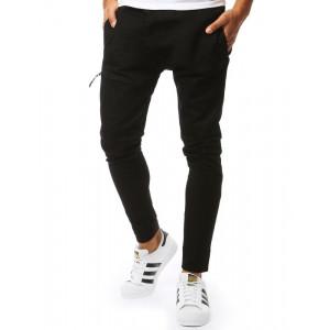 Štýlové pánske jogger nohavice v módnom designe so zipsami