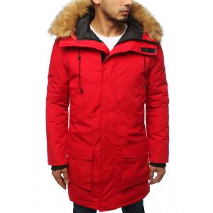 Štýlová zimná parka bunda s kapucňou pre pánov