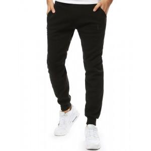 Trendy pánske čierne joggger nohavice