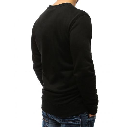 Čierna mikina pánska s výrazným neónovým pásom