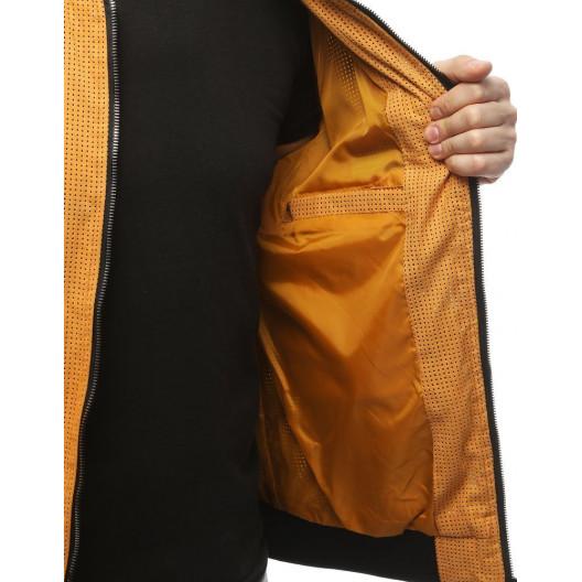 Štýlová pánske prechodná bomber bunda v camel farbe