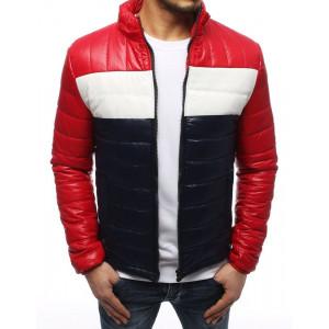 Červená pánska prechodná bunda v módnej trojkombinácii