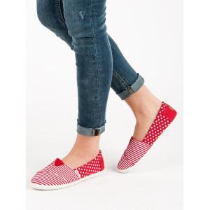 Hviezdičkové dámske tenisky v červenej farbe