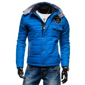 Modra pánska zimná bunda