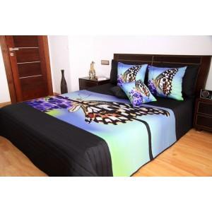 Prehoz na posteľ so vzorom motýľa