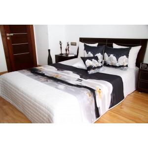 Elegantný prehoz na posteľ s bielou orchideou