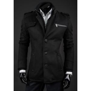 Pánsky zimný kabát čiernej farby