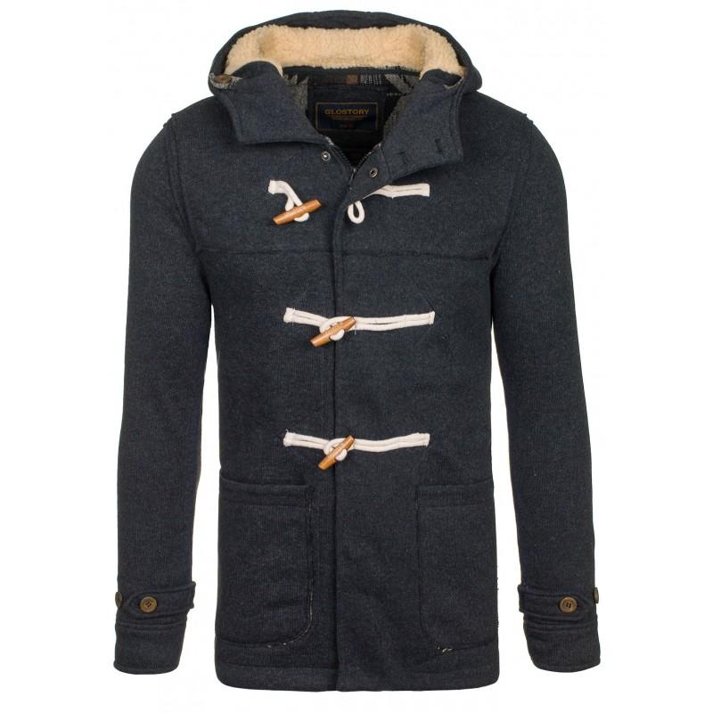 Pánsky športový kabát čiernej farby - fashionday.eu c9edee46e54