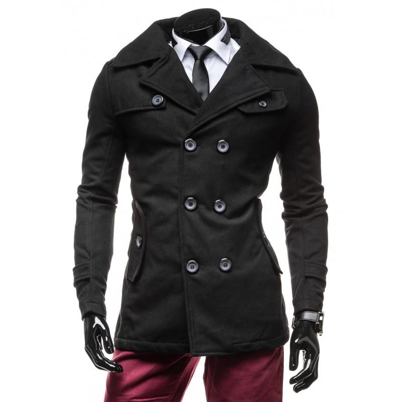 Elegantný čierny pánsky kabát - fashionday.eu eedbfa616f3
