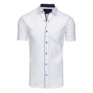 Spoločenká pánska biela košeľa s krátkym rukávom