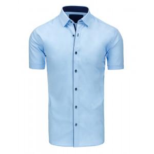 Svetlo modrá pánska slim fit košeľa s krátkym rukávom