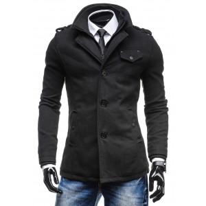 Zimný pánsky čierny kabát