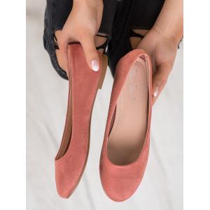 Pohodlné dámske ružové balerínky