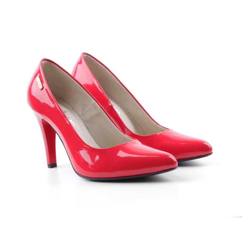 6d25f3f2f738 Dámske kožené lodičky červené DT236 - fashionday.eu