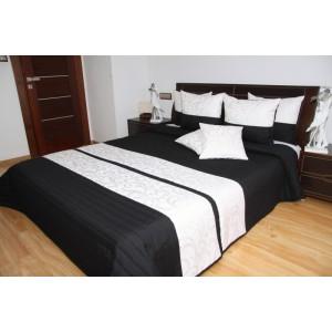 Čierny prehoz na posteľ s ornamentami
