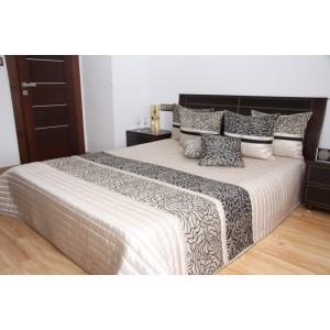Elegantný prehoz na posteľ s motívom kvetov