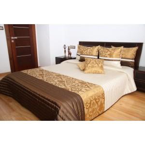 Luxusný prehoz na posteľ so zlatým ornamentom