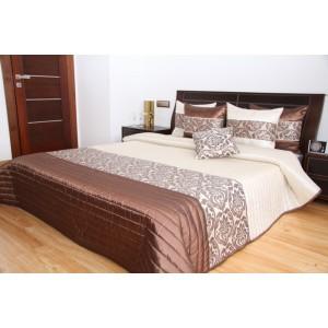 Krémový prehoz na posteľ s ornamentom