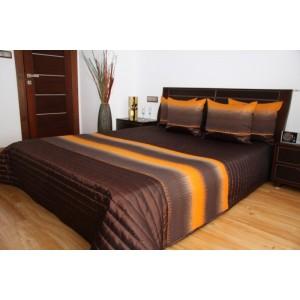 Hnedý prehoz na posteľ s pásmi