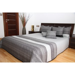 Bielo - sivý prehoz na posteľ