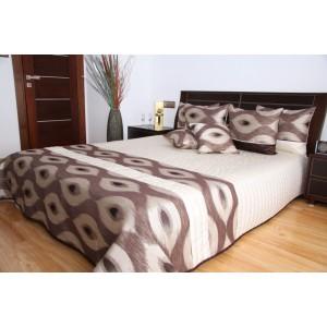 Béžový prehoz na posteľ so vzorom