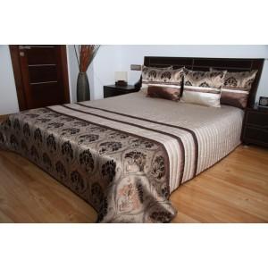 Luxusný prehoz na posteľ hnedej farby