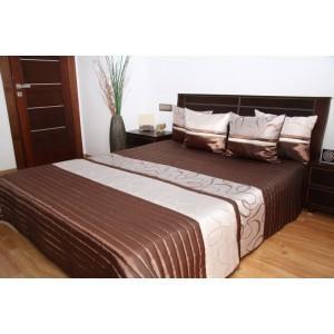 Hnedý prešivaný prehoz na posteľ
