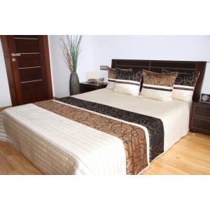 Krémový prehoz na posteľ s motívom vlniek
