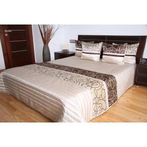 Prešívaný krémový prehoz na posteľ