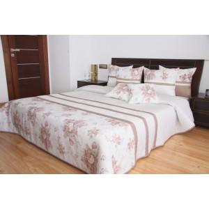Elegantný biely prehoz na posteľ