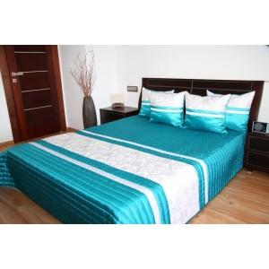 Tyrkysový prehoz na manželskú posteľ