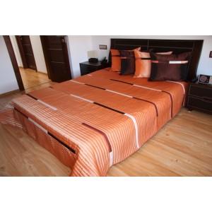 Oranžový prehoz pre manželské postele