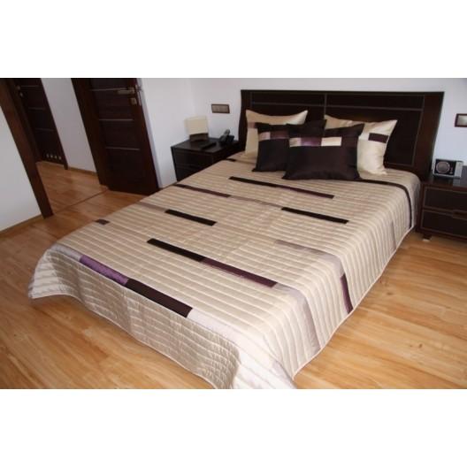 Krémový prešívaný prehoz na posteľ