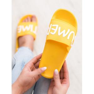 Moderné dámske letné šľapky v žltej farbe