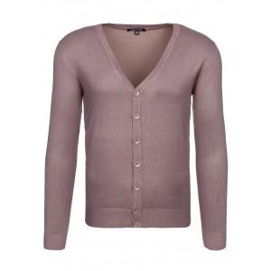 Hnedý pánsky sveter na gombíky