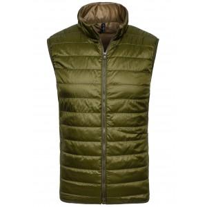 Pánska prešívaná vesta zelenej farby