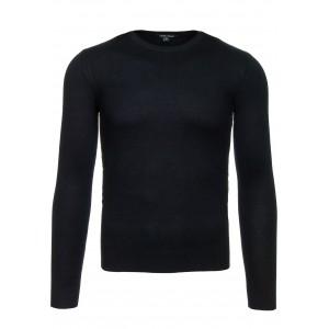 Pánske čierne svetre s dlhým rukávom