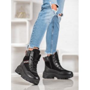Zateplená dámska zimná obuv na platforme